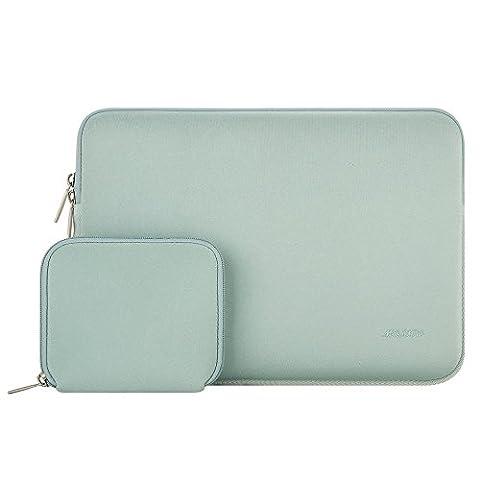 MOSISO MacBook Laptop Sleeve, Water Repellent Lycra Cover Housse Sac pour 11-11,6 pouces MacBook Air, Ultrabook Netbook Tablette avec un petit boîtier, Menthe Verte