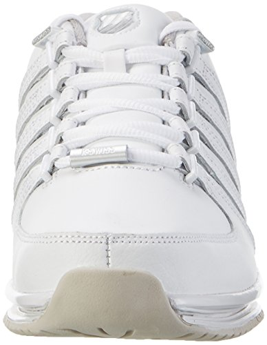 K-swiss Rinzler Sp Fade, Baskets Basses Pour Homme Blanches (blanc / Windchime / Argent)