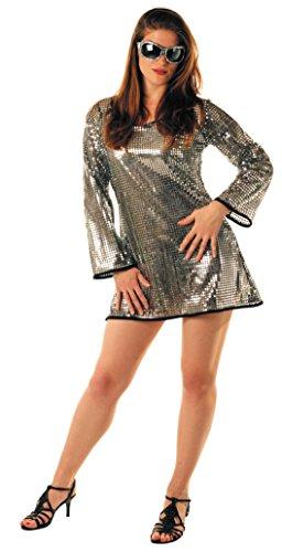 Party Pro-Robe Paillette Argent, Womens, 865091711, M/L