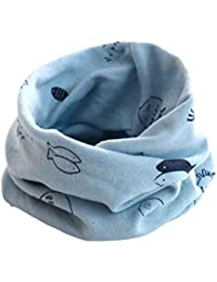 K-youth® Invierno Patrón de Pescado Algodón Pañuelos Niños Niñas O Cuello Bufanda para Bebé