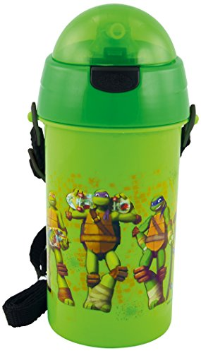 Unitedlabels 0116514 Turtles - Trinkhalmflasche, 400 ml