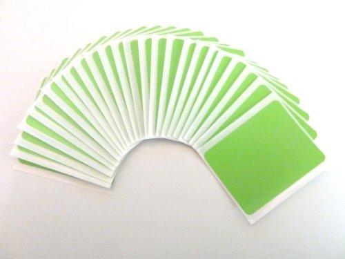 64x51mm etiquetas, Rectangulo, verde manzana, plástico/VINILO código de color PEGATINAS, autoadhesivo ETIQUETAS ADHESIVAS