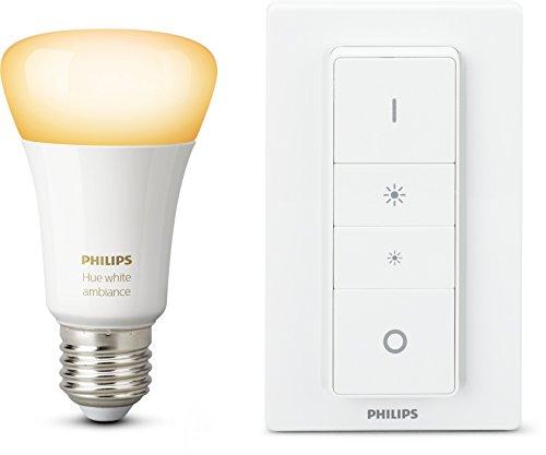 Philips Hue Wireless Dimming Kit ampoule White Ambiance E27 avec télécommande Hue
