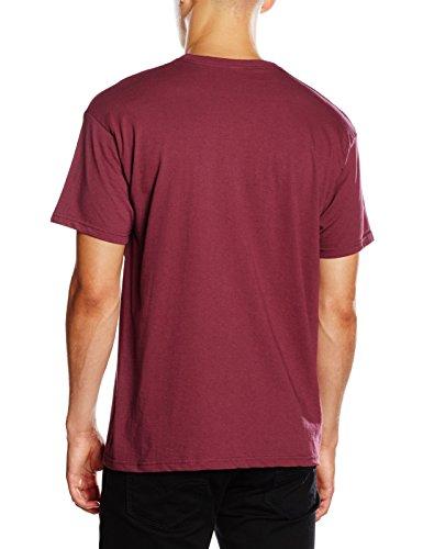 Fruit of the Loom Herren T-Shirt Mens Original T Rot (Burgunderrot)