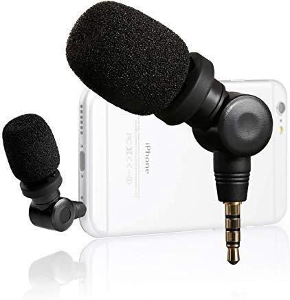 Saramonic Smartmic mini condensatore microfono flessibile con alta sensibilità per dispositivi Apple IOS, ad es. iPhone 8 Plus, 7, 6 Plus, iPad, iPod