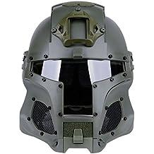 Mecotech Casco Táctico con Máscara y Gafas de Protección para Paintball, Combate, Airsoft Mascara