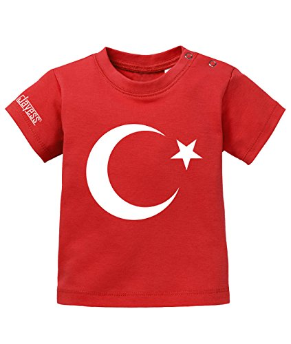 Jayess Türkei Mond und Stern - Türkiye - Baby T-Shirt in Rot by Gr. 92/98