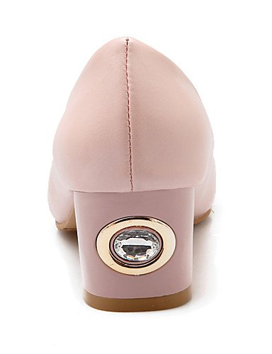 WSS 2016 Chaussures Femme-Bureau & Travail / Habillé / Soirée & Evénement-Noir / Bleu / Rose / Blanc-Gros Talon-Talons / Bout Arrondi-Talons- white-us6 / eu36 / uk4 / cn36