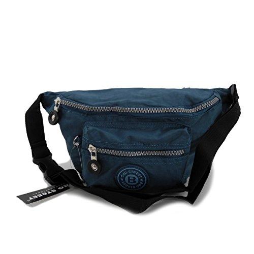 Bag Street marsupio marsupio marsupio Nylon präsentiert von ZMOKA® in diversi stili Colori..., Grau (grigio) - 0 Blu/turchese