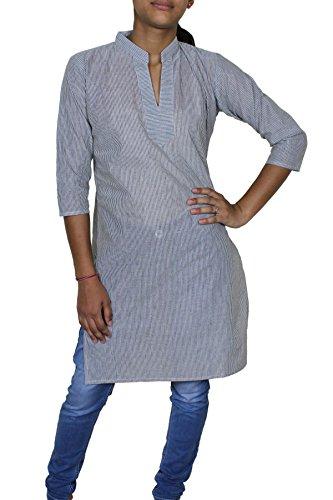 Donna sportiva loose fit striscia indiano tunica camicetta superiore maglietta vestiti india -m
