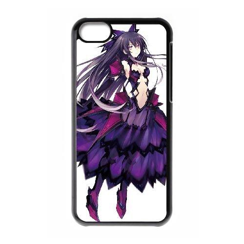 Date A Live Yatogami Tohka coque iPhone 5C Housse téléphone Noir de couverture de cas coque EBDXJKNBO13676