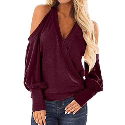 Bazhahei donna camicia,camicetta donna elegante manica lunga a quadri collo alto moda casual maglietta primavera estate top loose cotone t-shirt pullover