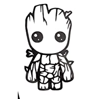 Baby Groot - Vinyl Decal Sticker Window Bumper Car Van Bus Laptop Phone Walls Bike Funny Joke JDM EURO DUB