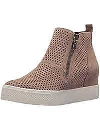 0e9efb1188e6 Sneakers Donna Zeppa Platform Stivaletti con Tacco Alte 5Cm Pelle Mocassini  Eleganti Scarpe da Ginnastica Estive