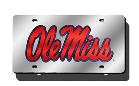 NCAA Mississippi Rebels Laser Cut Auto Tag,