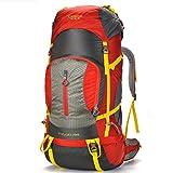 WXHWB Outdoor-Rucksack Bergsteigen-Tasche Outdoor-Reisen mit Einer großen Kapazität von 80L, (Color : Red)