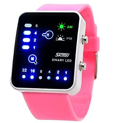 SunJas LED Uhr Armbanduhr 30m Wasserdicht Sportuhr DE