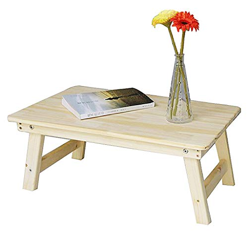 Nachttisch / Klapptisch aus massivem Holz tragbarer Laptoptisch klappbare Beine tragbarer Ständer...