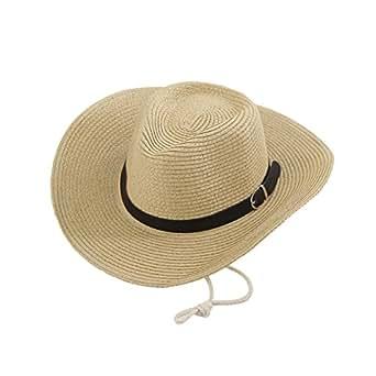 Cappelli Da Cowboy JLTPH Western Cappello di Paglia Estate Spiaggia Cappello Cappelli A Tesa Larga