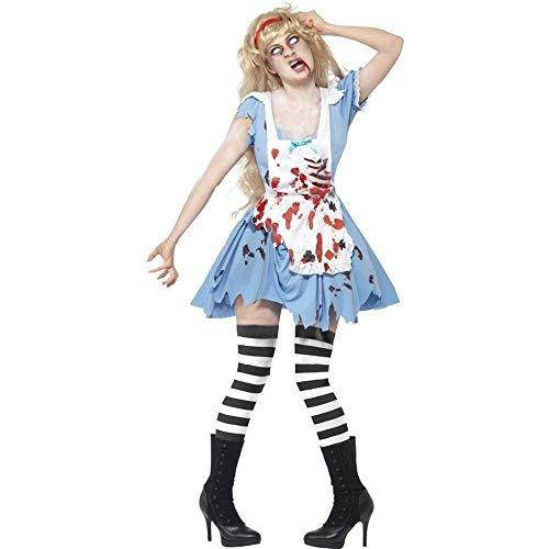 Fashion-Cos1 Sexy Kostüm Halloween Ghost Maid Gefärbt Blut Kostüm Vampire Kostüm Frauen Maskerade Party Ghost Halloween Cosplay Für Frauen (Ghost Maid Kostüm)
