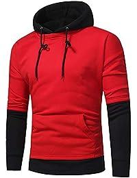 Tops de Hombre, Sudadera de Costura cálida Tops de Hombre Suéteres de Polar otoño/
