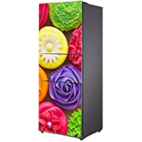 Q&M Decoración Envolver Refrigerador Pegatina Vinilo Cocina Casa Pared Calcomanía Gastrónomo Escena BX048,60 * 150Cm