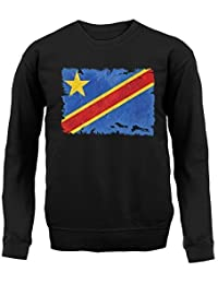 Democratic Republic of The Congo République démocratique du Congo Drapeau  Style Grunge - Sweat- c60e8ee9734