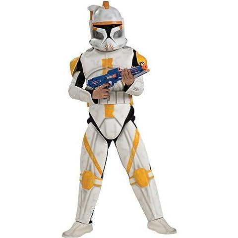 Star Wars Deluxe Kinder Kostüm Clonetrooper Commander Cody Größe L 8 bis 10 Jahre