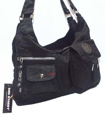 sportliche moderne handtasche bag street nylon schwarz schuhe handtaschen. Black Bedroom Furniture Sets. Home Design Ideas