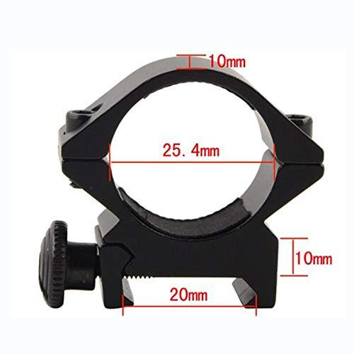 WQ-HUNTING, Taktische Lauf 25,4mm / 30mm Low QD Scope Torch Laser Sight Taschenlampe Ring Mount 20mm RIS Schiene Airsoft Jagdgewehr Zielfernrohr (Color : 25.4mm) -