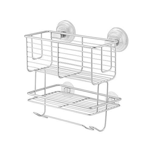 interdesign-classico-cestello-combo-a-ventosa-2-livelli-metallo-argento-23x14x22-cm