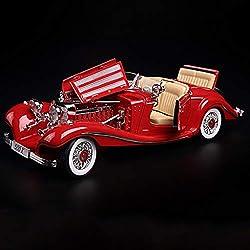 Modelo de auto Kits de coche modelo 1:18 Aleación de simulación Modelo de coche multifunción Retro Colección de coches clásicos Ornamentos de arte decorativo Cabeza de coche realista ( Color : Red )