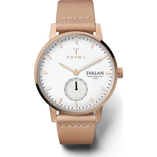 Triwa Svalan–Montre Femme Rose Svalan/Tan classique Super fin, taille unique