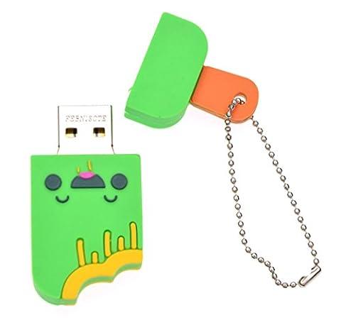 FEBNISCTE Cute Smile Ice Cream 16GB USB 2.0 Flash Drive Green Memory Stick
