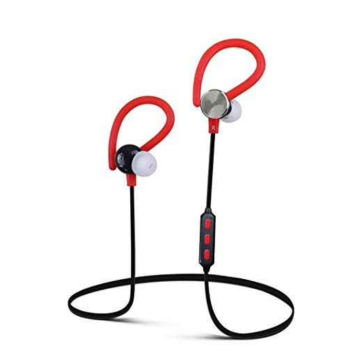 Koly Bluetooth Wireless Headset Wonder Deportes del auricular del auricular para el iPhone Samsung(Rojo)