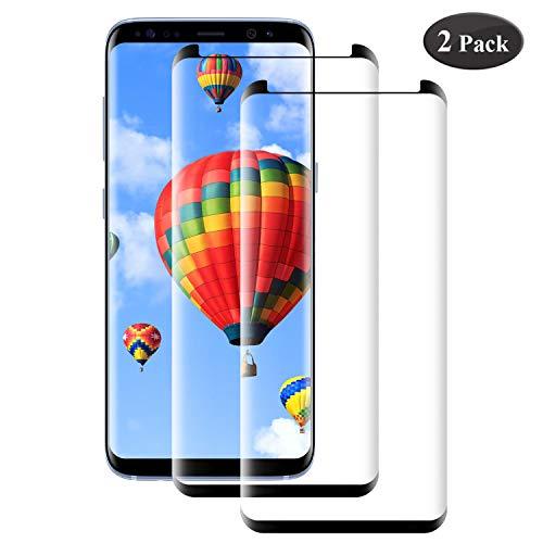 Seomusen Panzerglas Schutzfolie kompatibel mit Samsung Galaxy S8 [2 Stück], [9H Härte][ Anti-Kratzen] [Anti-Fingerabdruck] [Anti-Öl][HD Ultra Klar], Displayschutzfolie für Samsung Galaxy S8