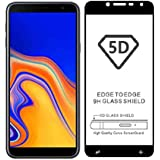 Sanguine Screen Protecter [Black 5D] 9H Tempered Glass Guard For Samsung Galaxy J6 Plus