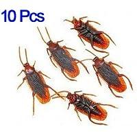 Dcolor 10 Cucarachas Falsas Juguete de Truco Broma