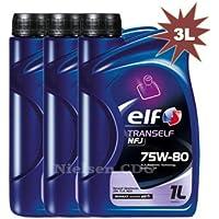 The Elf Company-  Aceite de engranaje Elf Tranself NFJ 75W-80 (3 x 1 l = 3 l)