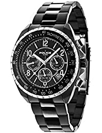 Police Mens Quartz Watch, multi dial Display and Stainless Steel Strap 14343JSBS/02M
