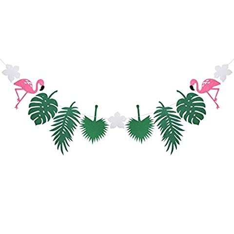 Tinksky Hawaii Flamingo Beach Luau thème Summer Party bannière Garland Festival fête bannière