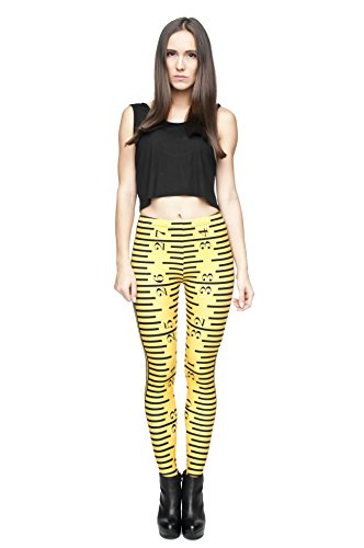 Femmes Mesdames Leggings Longueur complet extensible Collants Pantalon pour ne pas voir à travers Fitness Yoga Running Hipster UK 8 10 12 Multicolore - RULLER