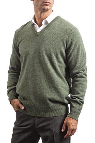 Great and British Knitwear Men's 100% Lambswool Plain V Neck Jumper. Made In Scotland