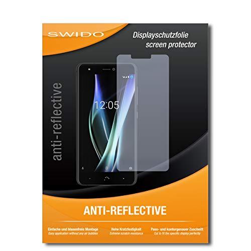 SWIDO Bildschirmschutzfolie für BQ Aquaris X2 [3 Stück] Anti-Reflex MATT Entspiegelnd, Extrem Kratzfest, Schutz vor Kratzer/Bildschirmschutz, Schutzfolie, Panzerfolie