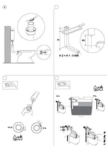 Aquashine® Hochwertiger Universal WC-Spülkasten || Aufputz-Spülkasten || 6-9 Liter || Toilettenspülkasten || EURO 2000 || Schwitzwasserisoliert || Spül-Stop-Funktion || Farbe Weiß || 5 Jahre Garantie || Made in EU