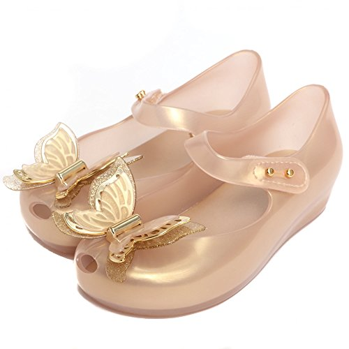 Melissa Shoes Mini Ultragirl Butterfly 22/23 Soft Gold (Shoes Melissa Jelly)