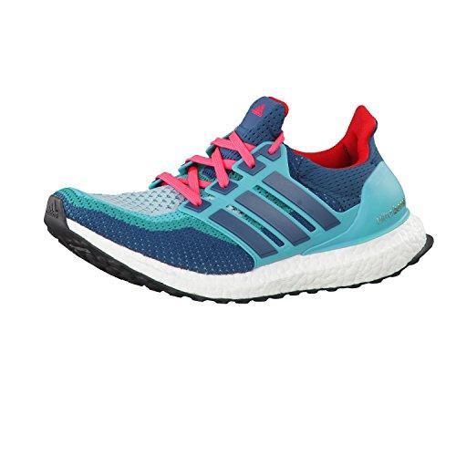 adidas Ultra Boost, Chaussures de Running Entrainement Homme, Bleu Vert / Bleu / Rouge (Vertra / Minera / Rojimp)