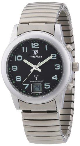 Time-Piece-Damen-Armbanduhr-Funk-Zugband-Analog-Quarz-Edelstahl-TPLA-10240-22M