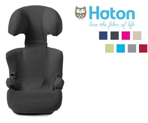Preisvergleich Produktbild HATON -- FROTTEE Ersatzbezug / Universal-Bezug -- Frühling / Sommer / Herbst -- z.B. für Maxi Cosi RODI und Römer KID -- Gruppe 2/3+ (Anthrazit)