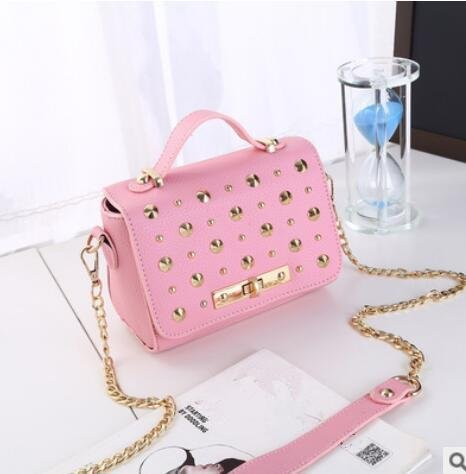 HQYSS Damen-handtaschen PU Leder frische süße Frauen Schulter Messenger Handtaschen pink